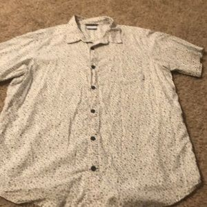 Columbia camping print button down